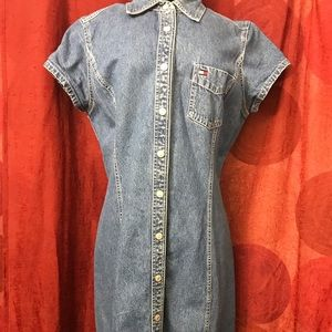Tommy Hilfiger Blue Denim dress size 12